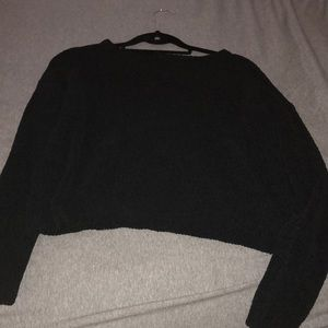 H&M cropped black sweater, lightly worn